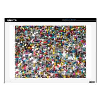 """Multi Colored Sequin Customize Add Text Decals For 17"""" Laptops"""