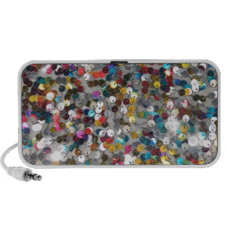 Multi Colored Sequin Customize Add Text Speakers