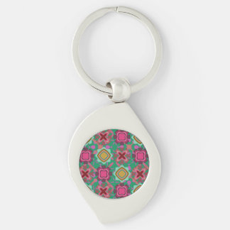 Multi Colored Shapes Pattern Keychain