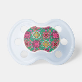 Multi Colored Shapes Pattern Pacifier