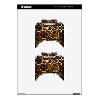 Multi Colored Sparkle Lights Xbox 360 Controller Decal