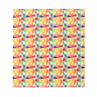 Multi Colored Square Art Memo Notepads