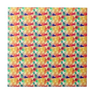 Multi Colored Square Art Tile
