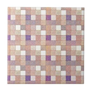 Multi Colored Square Geometric Art Tiles