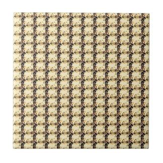 Multi Colored Square Geometric Art Tile