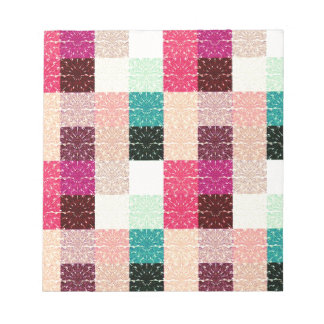 Multi Colored Square. Geometric Pattern Note Pads