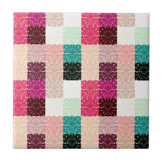 Multi Colored Square Geometric Pattern Tiles