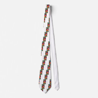 Multi Colored Squares and Stripes Girly Tie