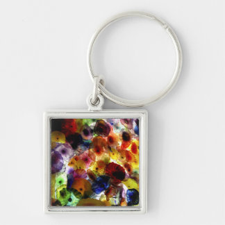 Multi-Colored Stained Glass Keychain