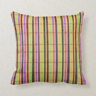 Multi Colored Striped Pillow