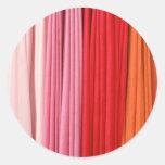 multi colored stripes classic round sticker
