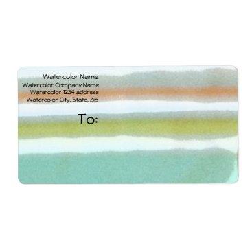 Multi-colored stripes, film grain, watercolor label
