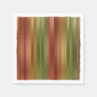 Multi Colored Stripes Paper Napkin