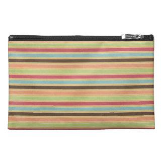 Multi-Colored Stripes Travel Accessory Bag