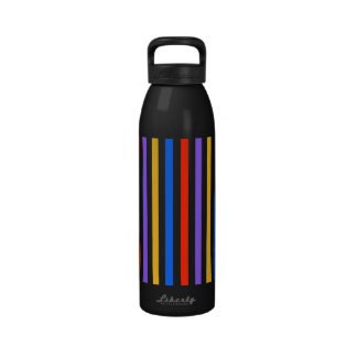 Multi Colored Stripes Water Bottles