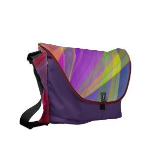 Multi Colored Strobe Light Messegner Bag Courier Bag