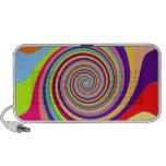 Multi-colored Swirl Doodle Speakers