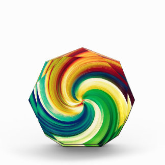 Multi colored Swirl Elegant Design Acrylic Award
