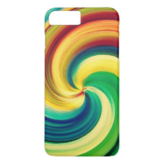 Multi colored Swirl Elegant Design iPhone 7 Plus Case