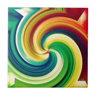 Multi colored Swirl Elegant Design Ceramic Tiles