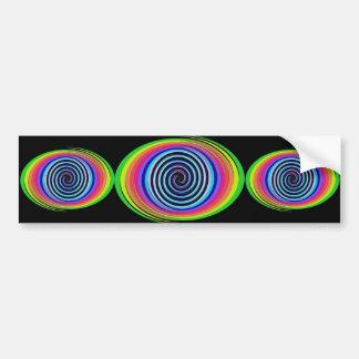 Multi-Colored Swirls Bumper Stickers
