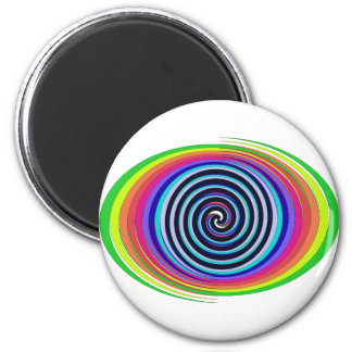 Multi-Colored Swirls Magnet