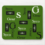 Multi colored syco gear mouse pad