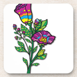 Multi Colored Tattoo Art Products and Apparel Beverage Coasters