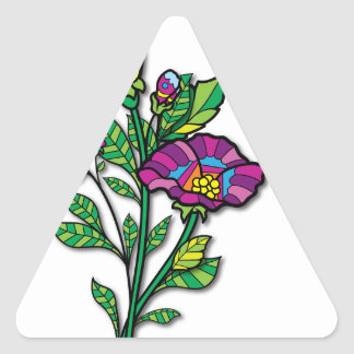 Multi Colored Tattoo Art Products and Apparel Triangle Sticker