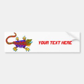 Multi Colored Terror Lizard Bumper Sticker