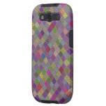 Multi Colored Tiled Pattern Galaxy SIII Covers