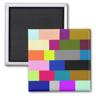 Multi-Colored Tiles Refrigerator Magnet