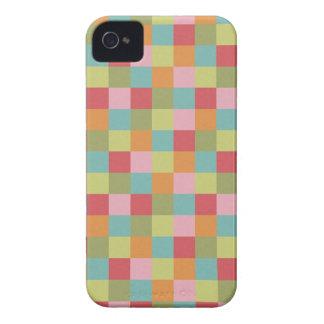 Multi Colored Tiles Quilt Squares Colorful Plaid iPhone 4 Case
