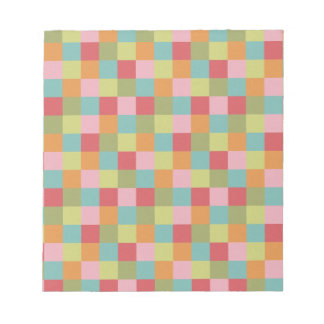 Multi Colored Tiles Quilt Squares Colorful Plaid Memo Pads