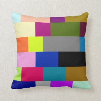 Multi-Colored Tiles Throw Pillow