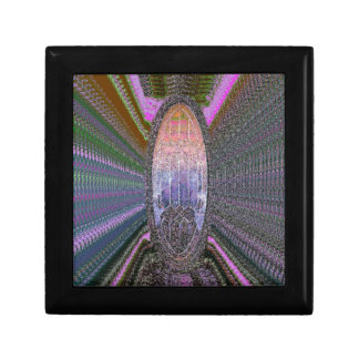 Multi Colored Time Travel Abstract Design Keepsake Box