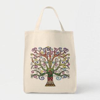 Multi-Colored Tree Tote Bag