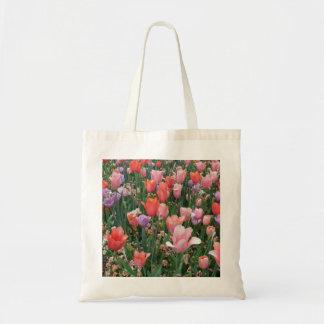 Multi Colored Tulips Canvas Bag