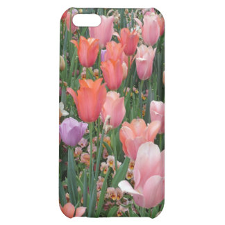 Multi Colored Tulips Cover For iPhone 5C