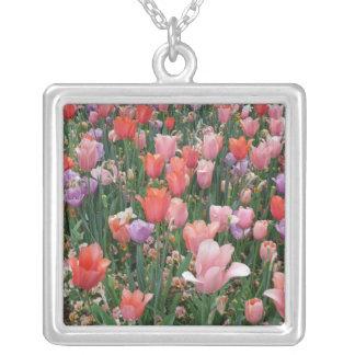 Multi Colored Tulips Custom Necklace