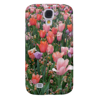 Multi Colored Tulips Galaxy S4 Covers