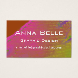 Multi Colored Watercolor Effect Business Card