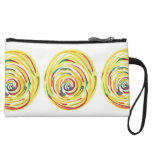 Multi-Colored Watercolor Printed Clutch