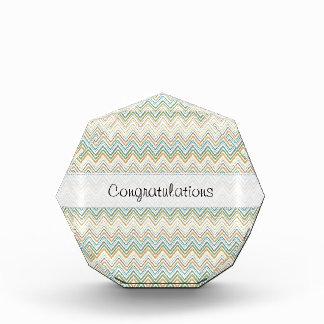 Multi Colored Wavey Pattern Stitched Vellum Award
