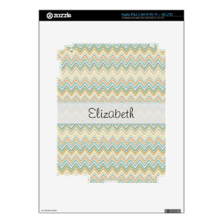 Multi Colored Wavey Pattern Stitched Vellum Decals For iPad 3