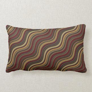Multi-Colored Wavy Lines Throw Pillow Lumbar