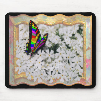 MULTI-COLORED WINGS-BUTTERFLY-MOUSEPAD MOUSE PAD