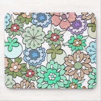 """Multi-Colores """"florales"""" Alfombrilla De Ratones"""