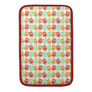 Multi -colorful Ice Cream with Mustaches Sleeve For MacBook Air
