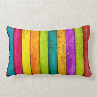 Multi Colorful Stripe Pattern Design Lumbar Pillow